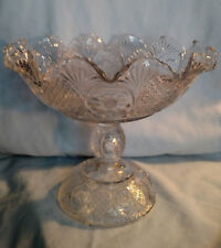 EAPG - Sunk Daisy Tall Compote - Co-operative Flint Glass Company