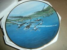 Hamilton Great Fighter Planes of Wwii Plate P-38F Lightning Raymond Waddey 1992