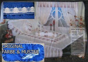 10 TLG Tagesdecke Bettüberwurf Set Vorhänge & Gardine Vorhang Gardine ROSMRY BLA