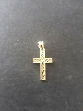 14 K Yellow Gold Cross Pendant Marked CA