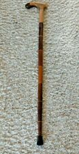 "Unique Style Vintage Wooden Walking Cane 35"" Derby Style Handle,"