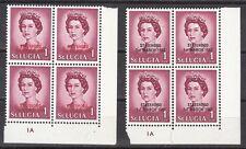 St. Lucia Michel 204a-B Mint NH blocks (Scott footnote after 222) - CV 100 Euros