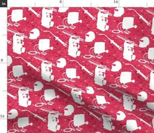 Red Batik Tools Industrial Equipment Trade Spoonflower Fabric by the Yard