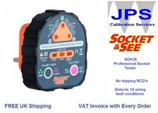 Socket and See Mains Socket RCD Tester with Earth Loop and Polarity Test JPST016