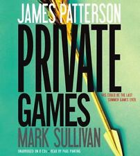 Private: Private Games by James Patterson and Mark Sullivan (2012, CD,...