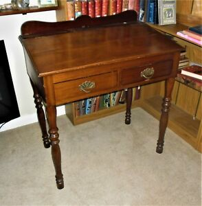Writing Desk Elegant Early Victorian. Family Owned From New. 2 Drawers 1840?