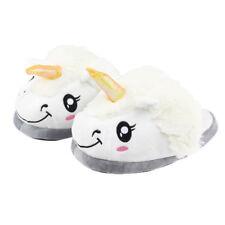 Unisex Winter Warm Plush Unicorn Slip Soft Cartoon Adult Indoor Slippers