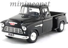 MOTORMAX 73236 1955 55 CHEVY 5100 STEPSIDE PICK UP TRUCK 1/24 DIECAST BLACK