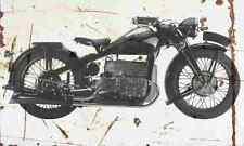 Zundapp K800 1938 Aged Vintage SIGN A4 Retro