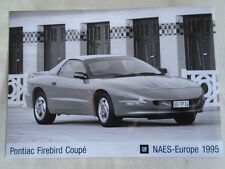Pontiac Firebird Coupe press photo brochure 1995