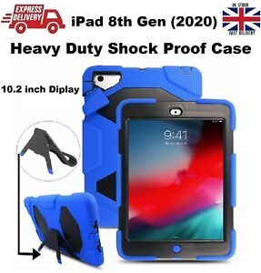 Tough Shockproof Armour Heavy Duty Stand Case For iPad 8th Gen 2020 10.2 inches
