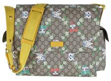 New Gucci 211131 Coated Canvas Love Pets Baby Diaper Bag Messenger Purse