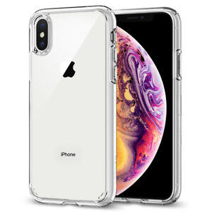 For iPhone X XS XS Max XR Case Spigen [ Ultra Hybrid ] Protective Clear Cover