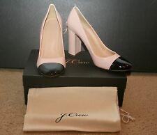 J.CREW LENA LEATHER PUMPS WITH PATENT CAP TOE SIZE 9,5M FADED BLUSH F5587
