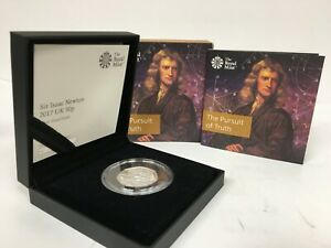 The Royal Mint 'The Pursuit of Truth' Sir Isaac Newton 2017 50p Silver Coin