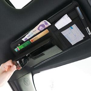 Auto Car Sun Visor Organizer Tactical Pouch Bag PU Pocket Card Storage Holder UK