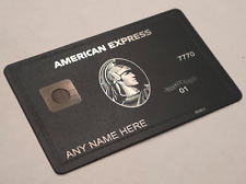 NEW 2020 American Centurion Black Card TITANIUM Express Amex - FOR LARGE CHIP