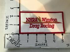 """1970's EMBROIDERED NHRA WINSTON DRAG RACING JACKET PATCH 2.5"""" X 5"""""""