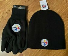 PITTSBURGH STEELERS GLOVES AND BEANIE HAT SET