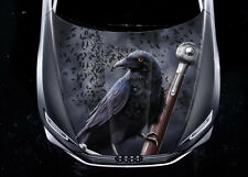 Crow Weapon Car Hood Wrap Full Color Vinyl Sticker Decal Fit Any Car