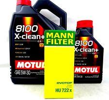 Motul 8100 5W30 X-Clean+ Motoröl & MANN Ölfilter HU722x BMW 3er Alpina 6Liter
