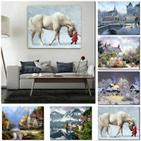 DIY Paint By Number Kit Digital Oil Painting Art Wall Home Room Decor 17 MSF