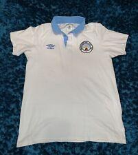 Retro Manchester City Umbro Polo Shirt Size Medium M (Fits Like A Small)