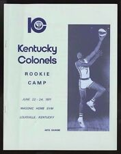 1971-72 KENTUCKY COLONELS ROOKIE CAMP MEDIA GUIDE~ARTIS GILMORE~ABA