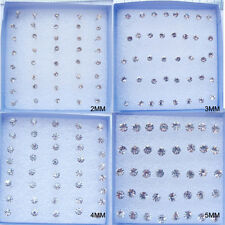 Bulk Lots Allergy free 20 Pairs Rhinestone Crystal Stud Stud Earrings For Women