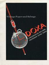 1936 Doxa Watch Company Conscienciese Pas Chere Protegera Votre Temps Swiss Ad
