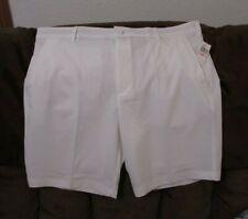 "Men's ""IZOD"" Size 40, White, Golf Swingflex Waist UPF-40, Wicking Casual Shorts"