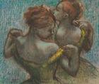 Two Dancers Edgar Degas Ballerina Print Wall Art CANVAS Reproduction Small 8x10