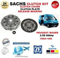 FOR PEUGEOT BOXER 2.5 D 86bhp 1994-ON SACHS 3 PIECE CLUTCH KIT ** OE QUALITY **