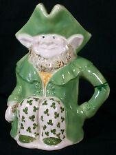 Irish Leprechaun Toby Pitcher Mug Head Vase- Hand Made-Signed O'Neill 1986
