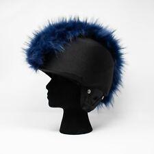 midnight blue faux fur ski helmet cover mohawk head band snowboard