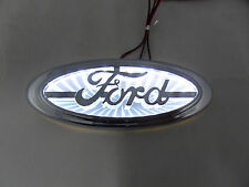 NEW Chrome &  WHITE  LED Oval Badge Emblem Lamp For FORD™ Free Ship