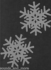 6 Schneeflocken Ø ca.10 cm mit Glitter Weihnachten Deko Dekoration Flocken