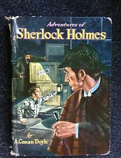 Adventures of Sherlock Holmes by A. Conan Doyle Whitman Book 1955 Mysteries HC