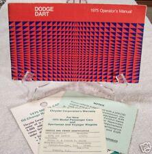 **ORIGINAL** 1975 Dodge Dart Owners Manual Set 75
