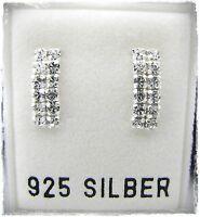 NEU 925 Silber OHRSTECKER mit SWAROVSKI STEINE in kristallklar CREOLEN OHRRINGE
