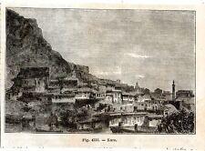 Stampa antica Veduta di KARS Turchia Turkey 1889 Old Print