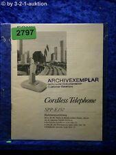 Sony Bedienungsanleitung SPP E150 Cordless Telephone (#2797)