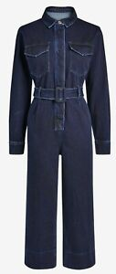 Ladies Next Emma Willis Dark Denim Boiler Jumpsuit (Regular/Petite/Tall) UK 6-22