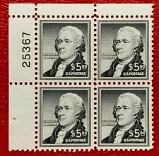 US Stamps SC#1053 $5 Hamilton Liberty Series Plate Block of 4 CV:$220