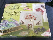 BNIB Flower Pressing Craft Kit By House Of Crafts