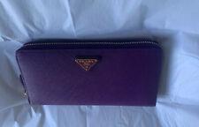 Authentic Prada Saffiano  Leather Purple Large Zip Around Wallet .Rrp.£535!