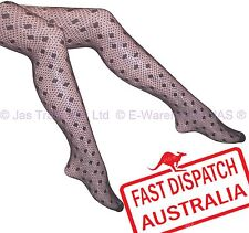 Lingerie Lace Floral Footed Fishnet Tights 20s Panty Hose Pantyhose POLKA DOTS