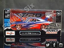 MAISTO prorodz 1:24 1969 Dodge Charger R/T Bleu Rouge AMERICAN MUSCLE