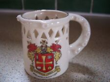 CRESTED WOLVERHAMPTON PUZZLE MUG TANKARD WITH VERSE ON BACK UNMARKED ON BASE