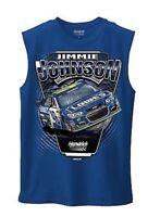 Hendrick Motorsport JIMMIE JOHNSON #48 LOWE'S BLUE NASCAR MUSCLE TEE SHIRT Med